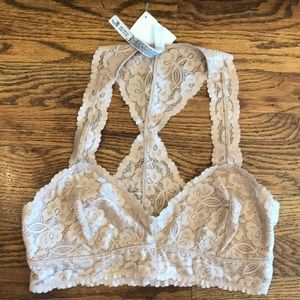 Free People- Galloon Bralette in Nude
